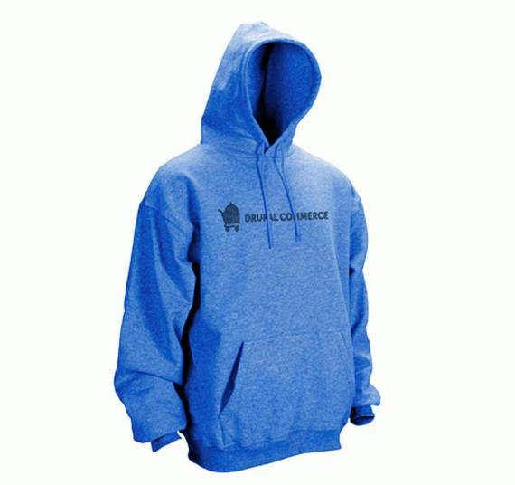 Blue hoodie (front - alternative)